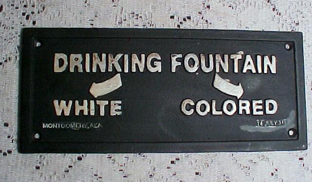 Jim Crow Laws mandated racial segregation in public facilities