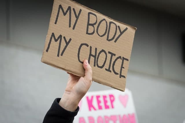 Pro-choice demonstration