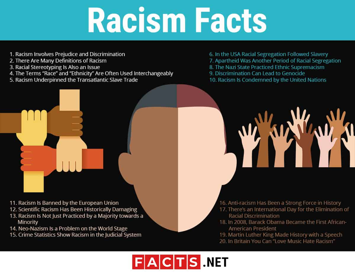Racism Facts Infographics