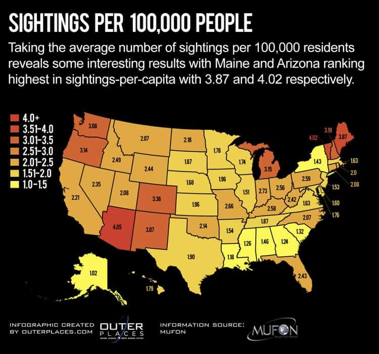 UFO Sightings by State