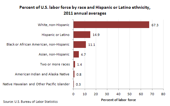 US Labor Force by Race and Ethnicity