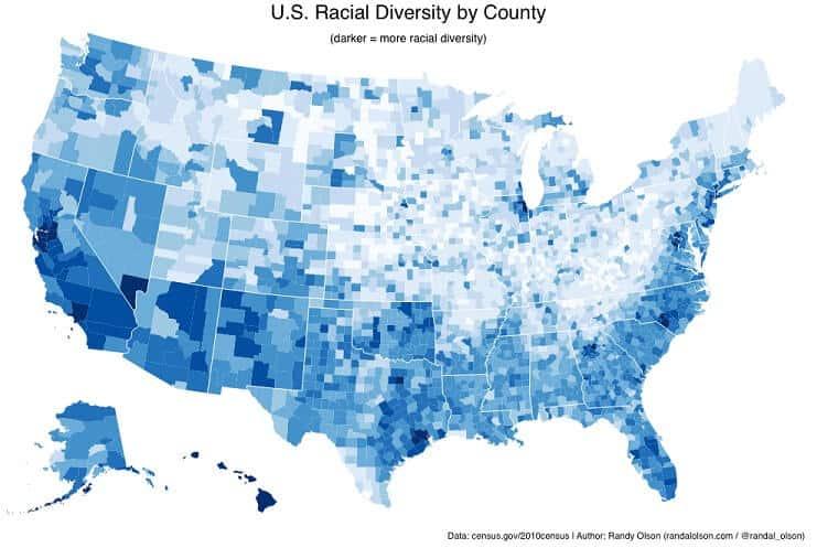US Racial Diversity Map
