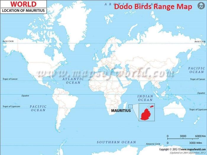 dodo bird range map