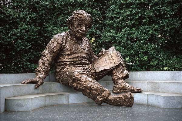 Einstein Statue in Washington DC National Academy of Science