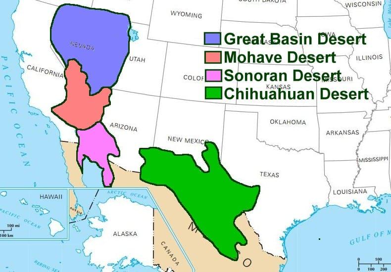 4 Deserts in US