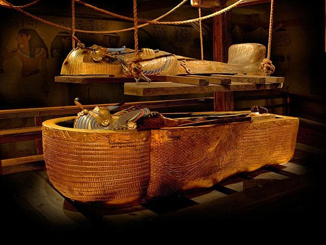 King Tut's Burial Recreation