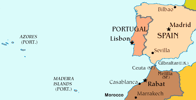 Madeira and the Azores Part of Portugal