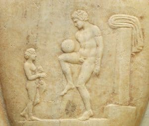 Ancient Greek Soccer Player