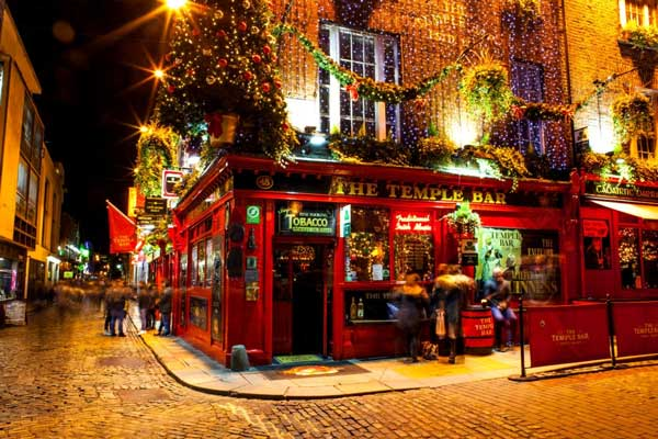 Famous Red Pub in the Temple Bar