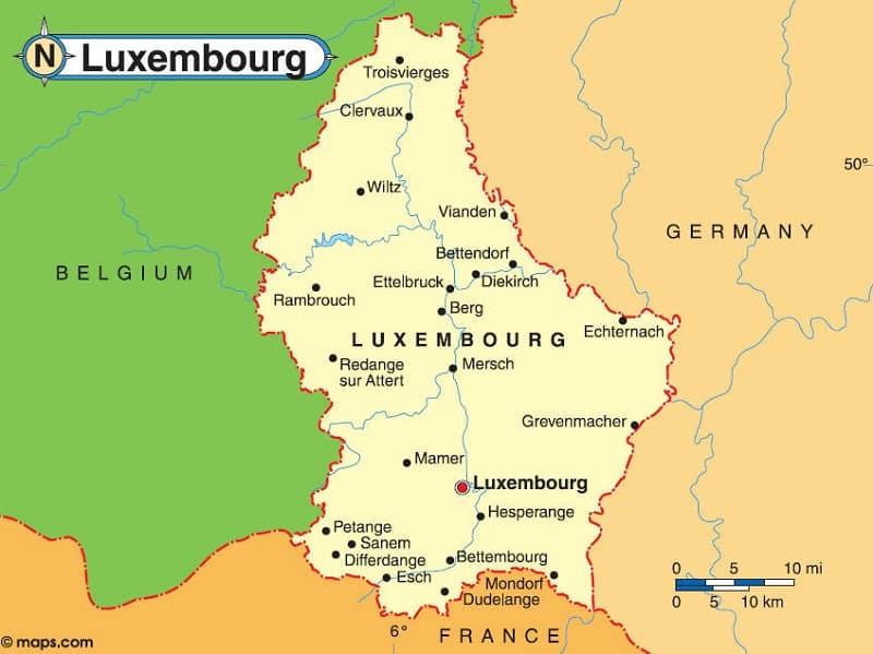 Где находится люксембург в какой