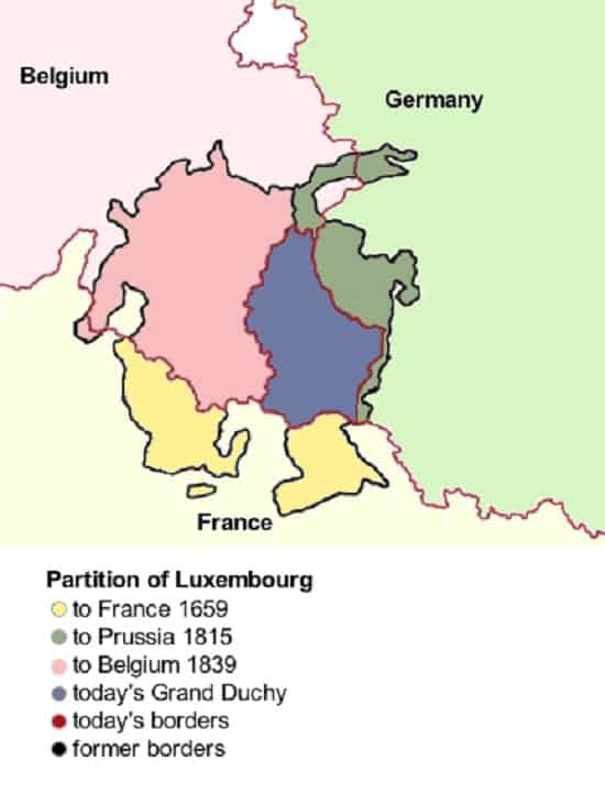 Luxembourg Partitions Map