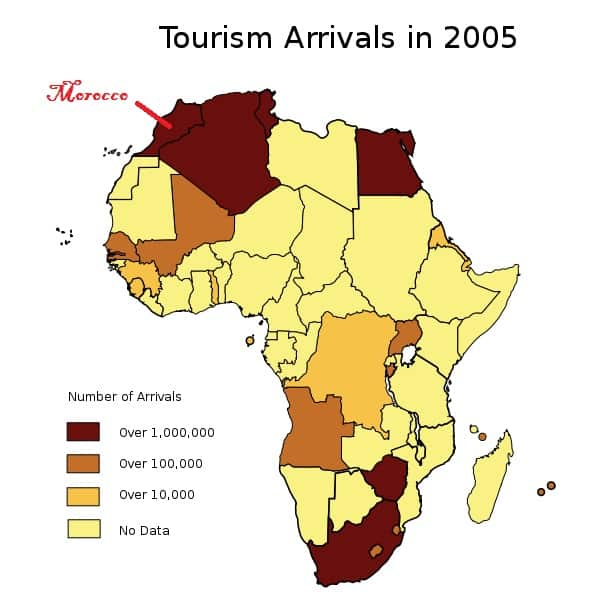 African Tourism by Country in 2005