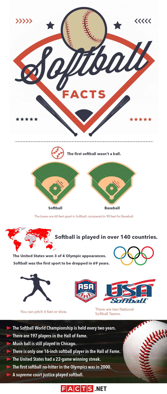 Softball Facts Infographics