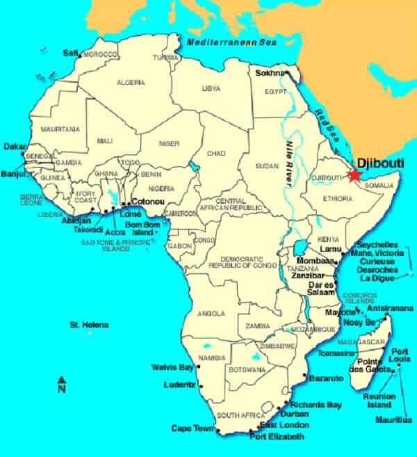 Djibouti Location