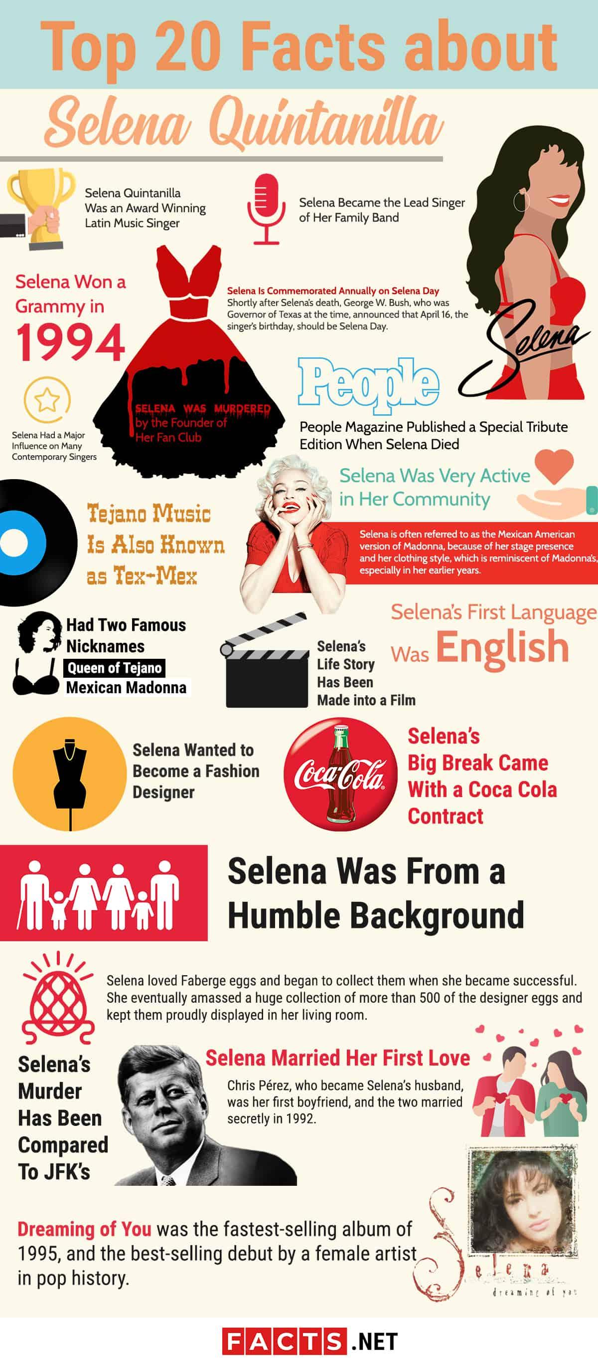 Selena Quintanilla Infographics