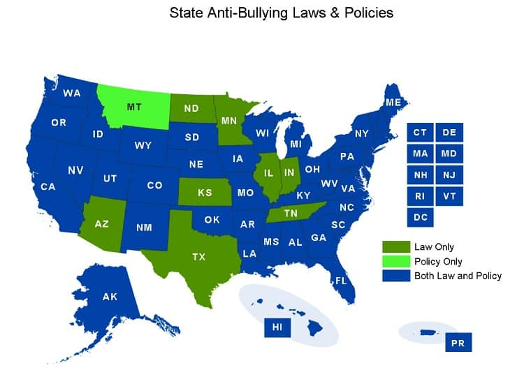 State Anti-Bullying Laws and Policies