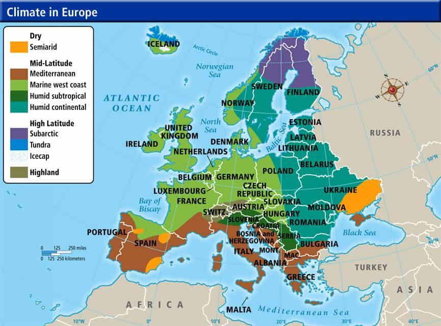 European Climate Map