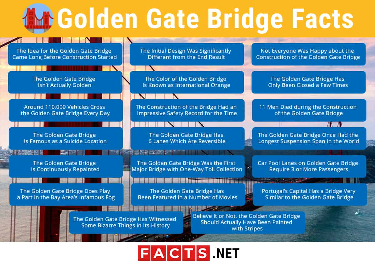 Golden Gate Bridge Facts Infographics