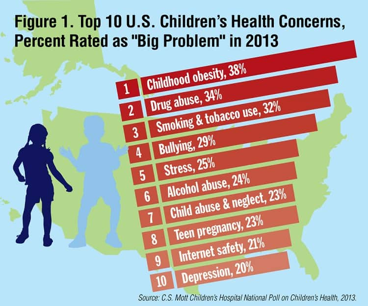 Top 10 US Children's Health Concerns