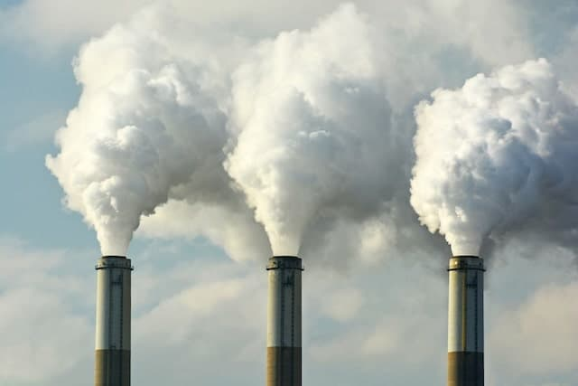 Fossil Fuel Power Plants Emitting Carbon Dioxide