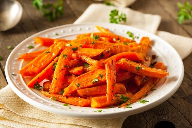 Plate of Roasted Carrots