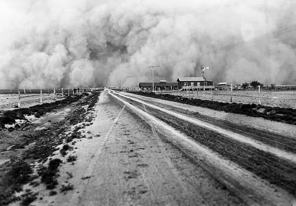 Dust Bowl Hitting a Farm