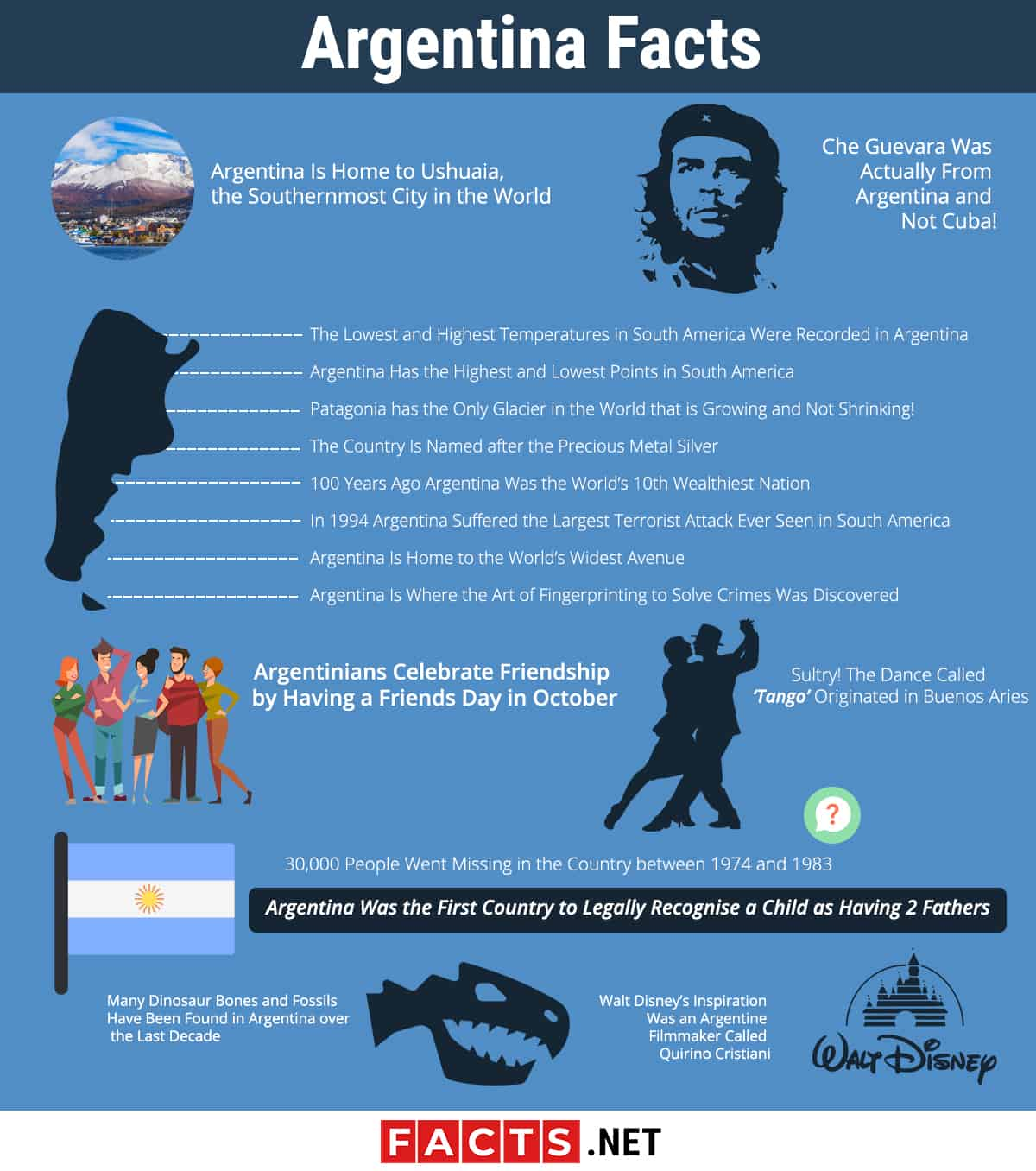 Argentina Facts infographics