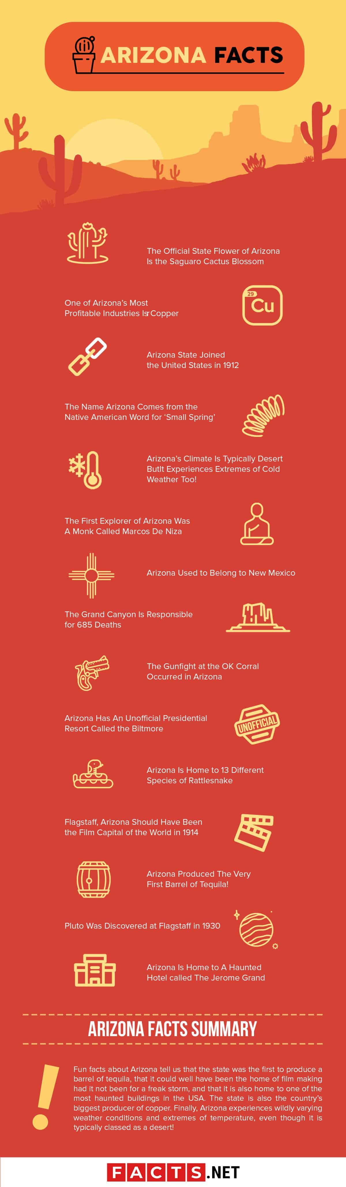 Arizona Facts Infographics