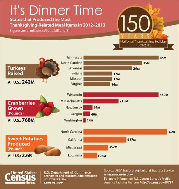 Thanksgiving-Related Meal Production Stats