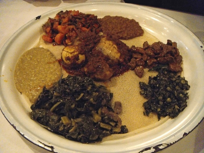 Injera, traditional Ethiopian Food