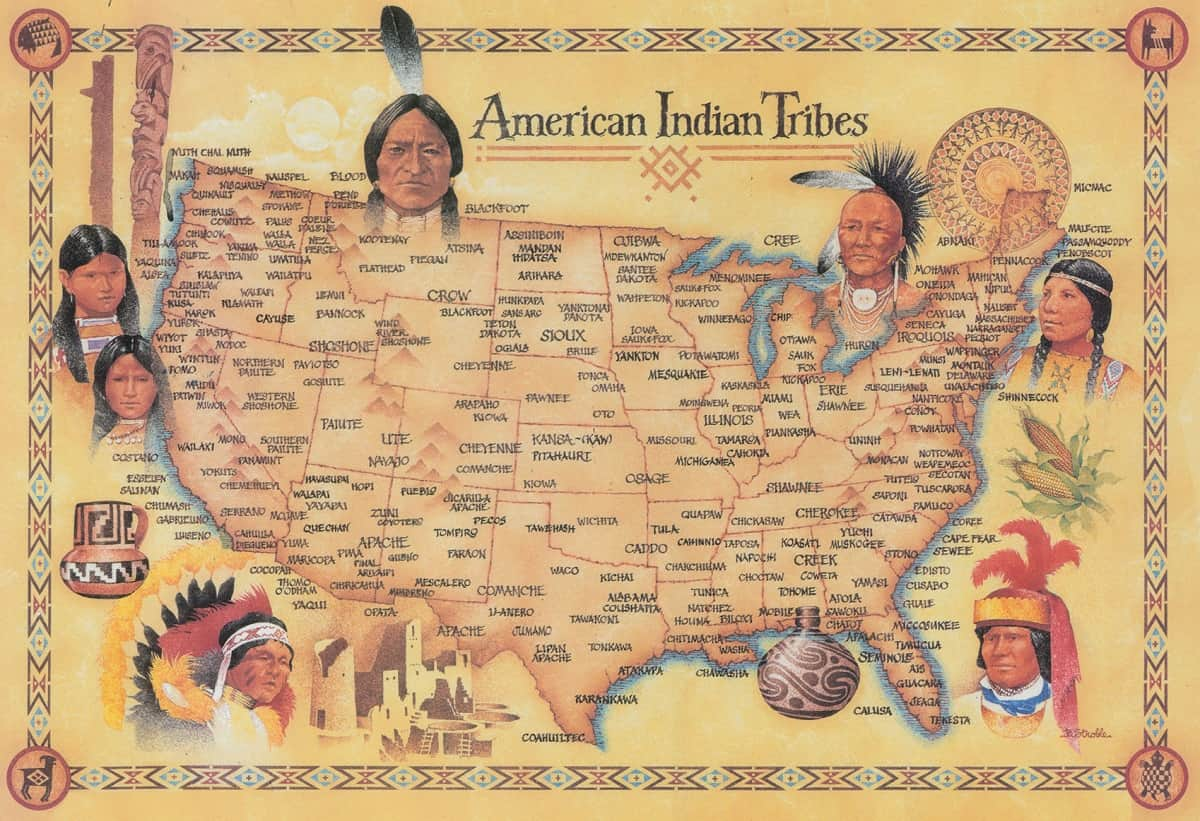American Indian Tribes by State Map