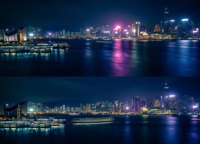 Hong Kong Before and After Earth Hour Event 2018