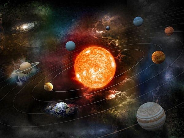 Planet Jupiter on the Bottom Right