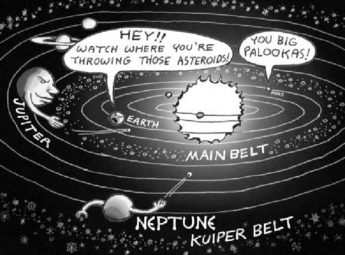 Kuiper Belt - Main Belt - Earth