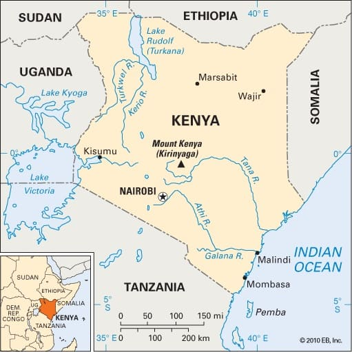 Kenya Location