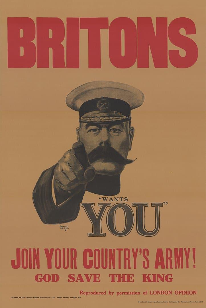 World War 1 propaganda poster