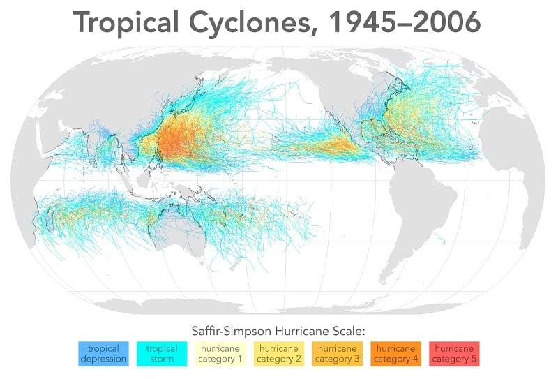 Tropical Cyclones 1945-2006