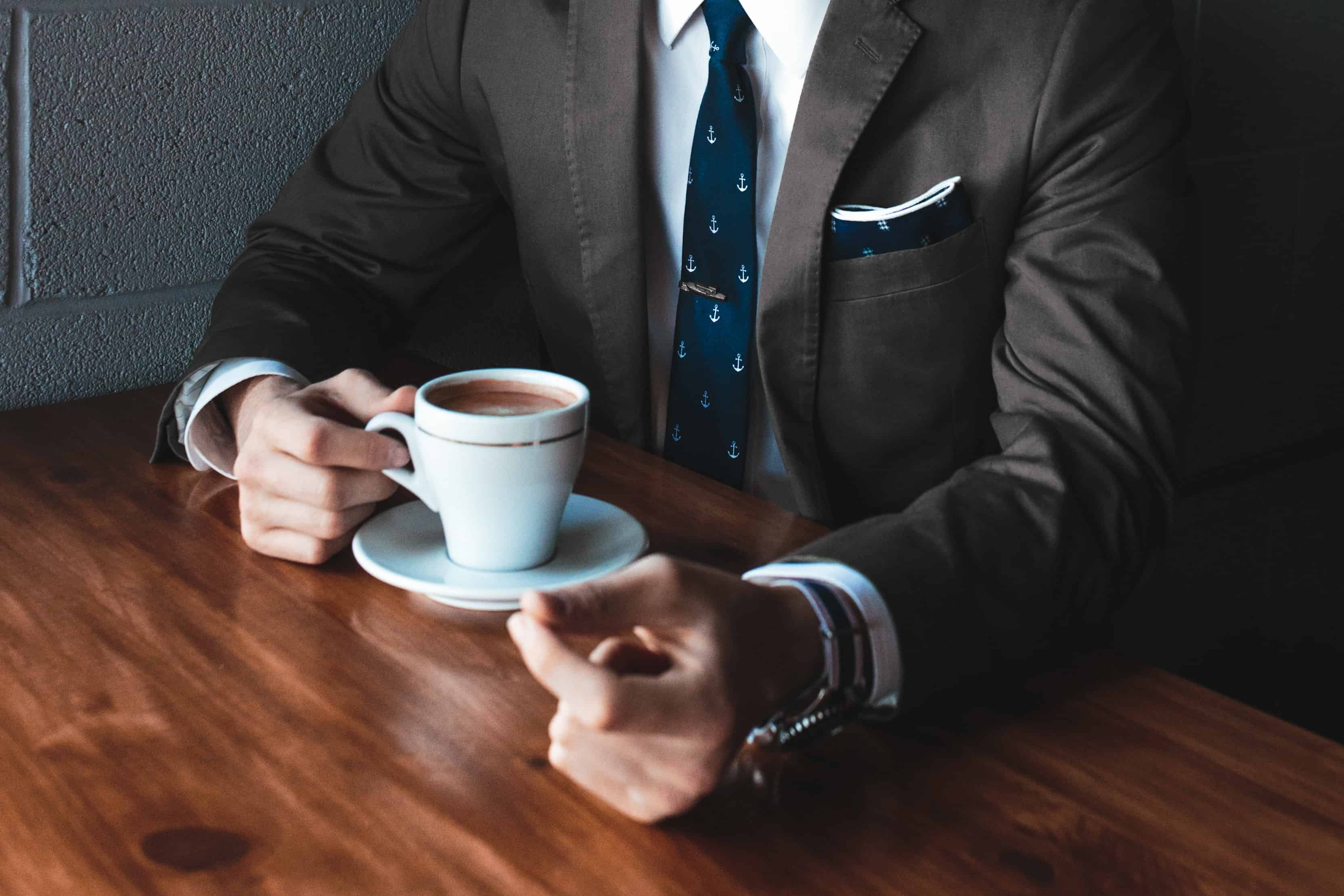 man drinking coffee, coffee facts