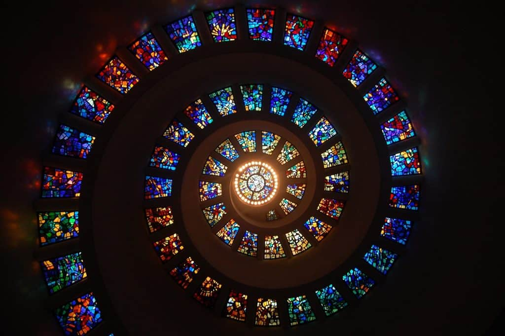 stained glass color facts about gold