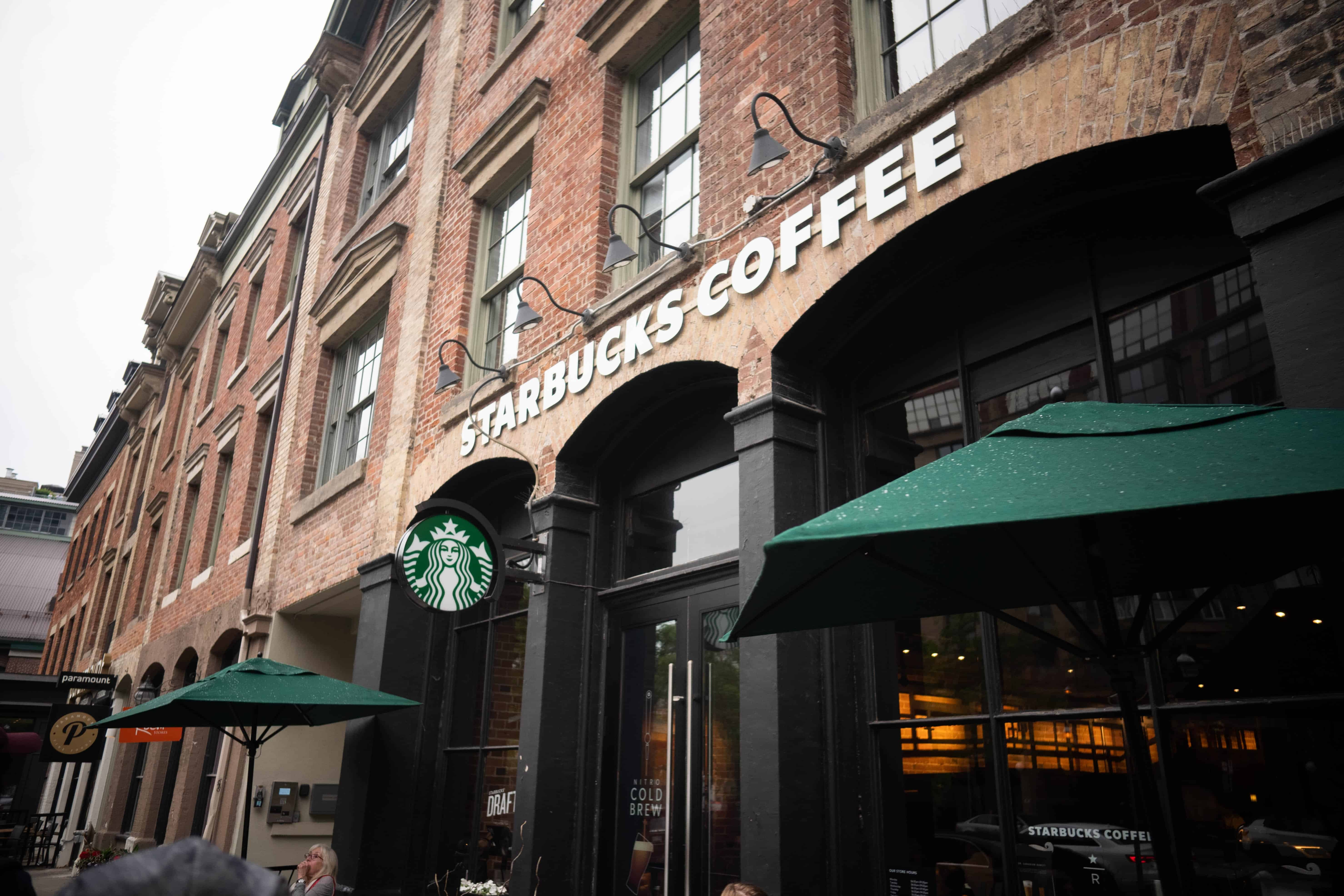 starbucks cafe on the street, coffee facts