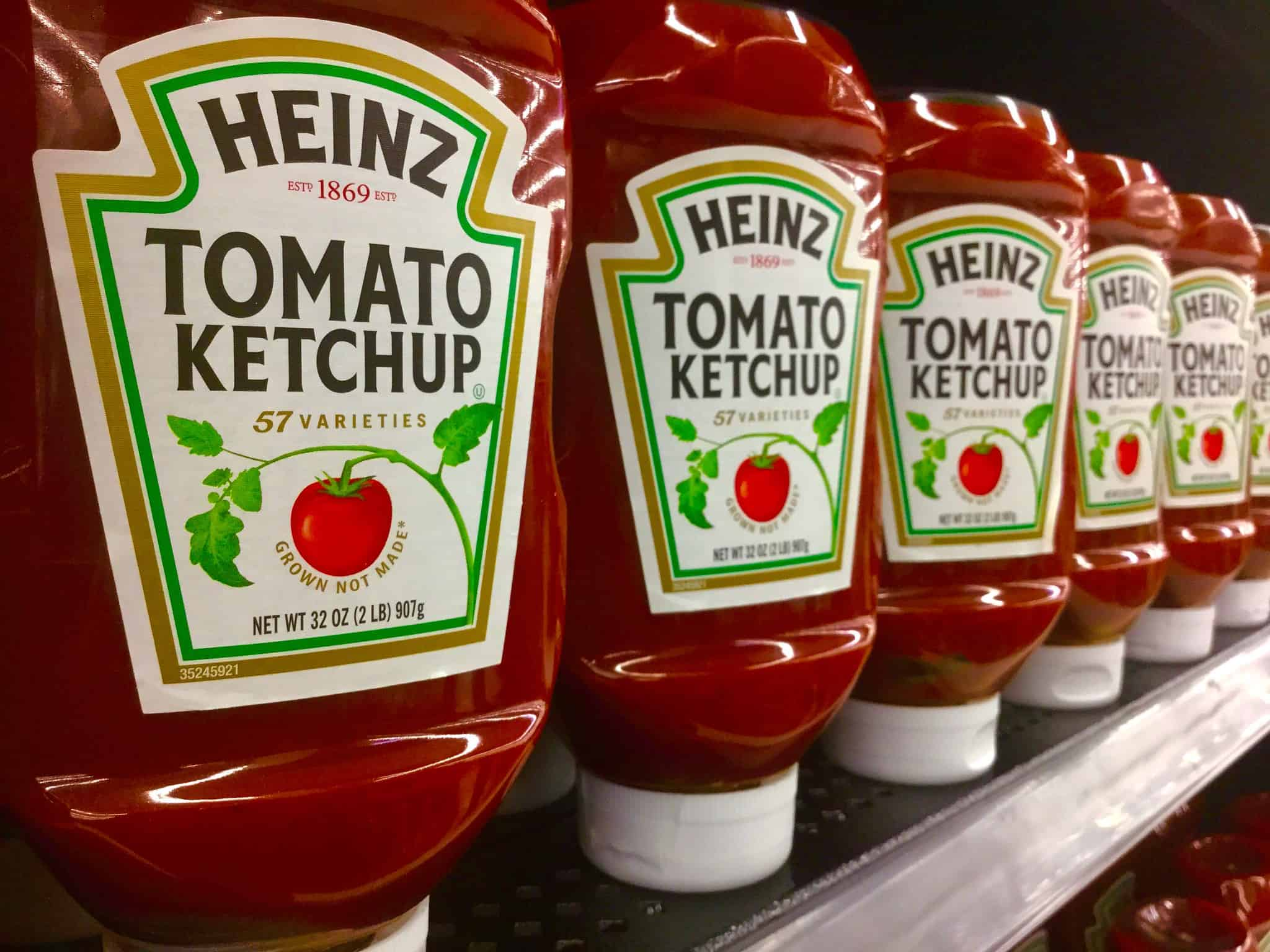 heinz ketchup bottle, 57 varieties, food facts