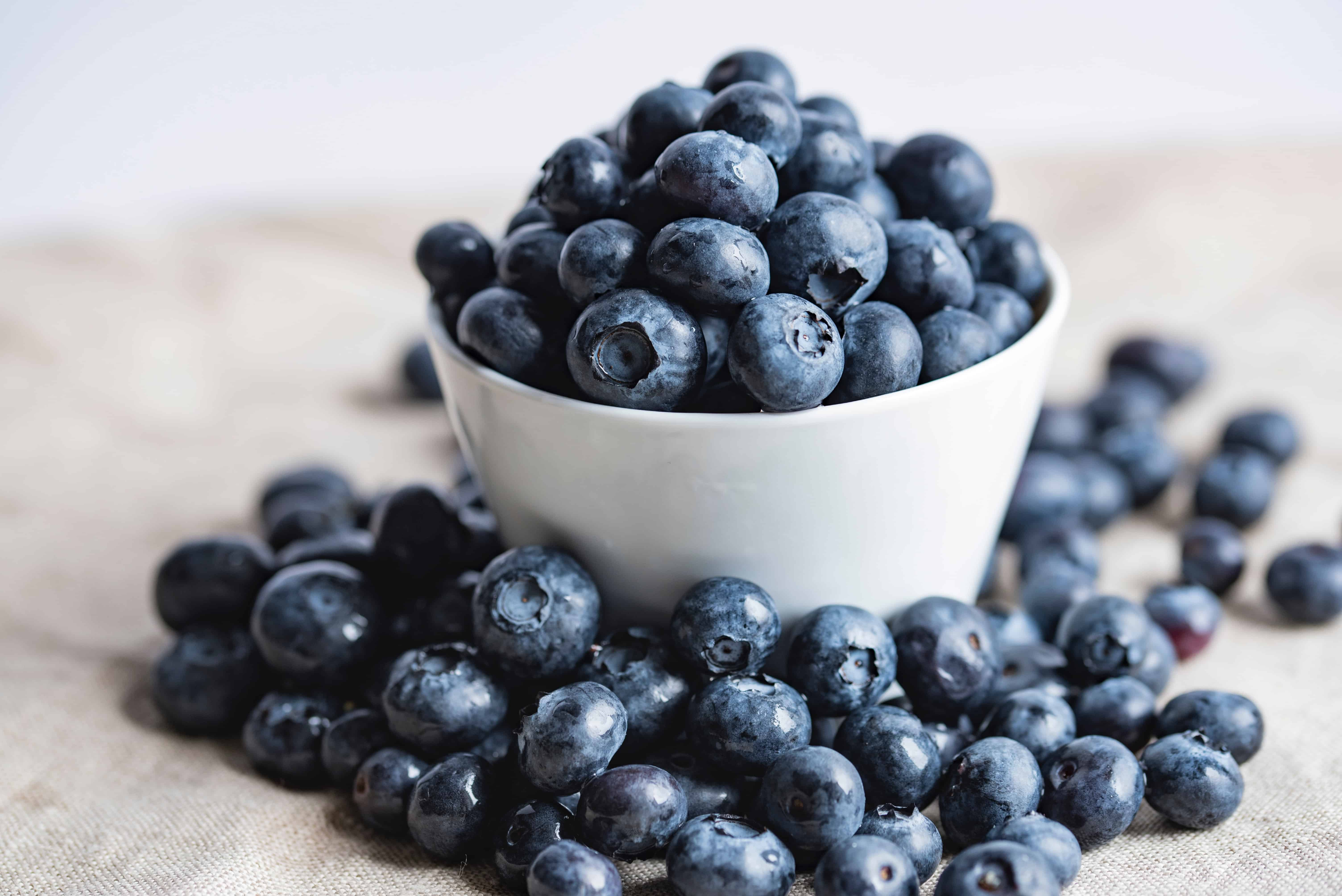 blueberries in a bowl, food facts