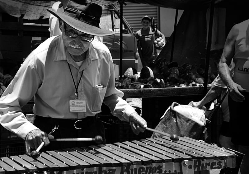 man playing marimba in costa rica, costa rica facts