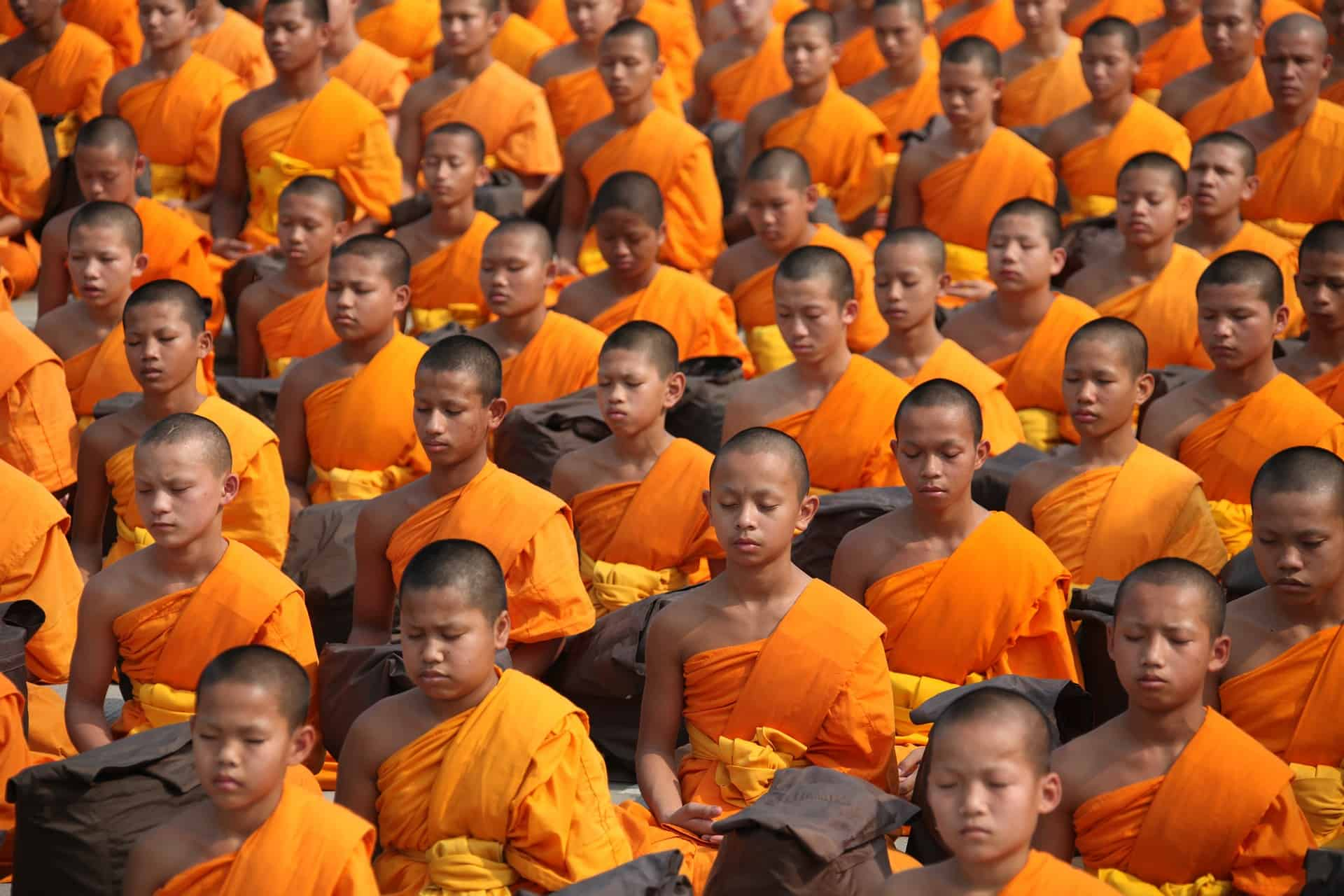 thailand monk students, thailand facts