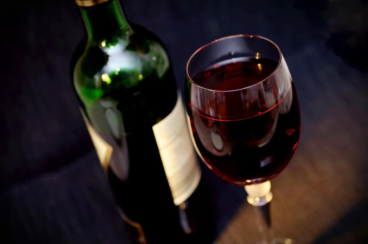 bottle of red wine, glass of red wine, red wine facts