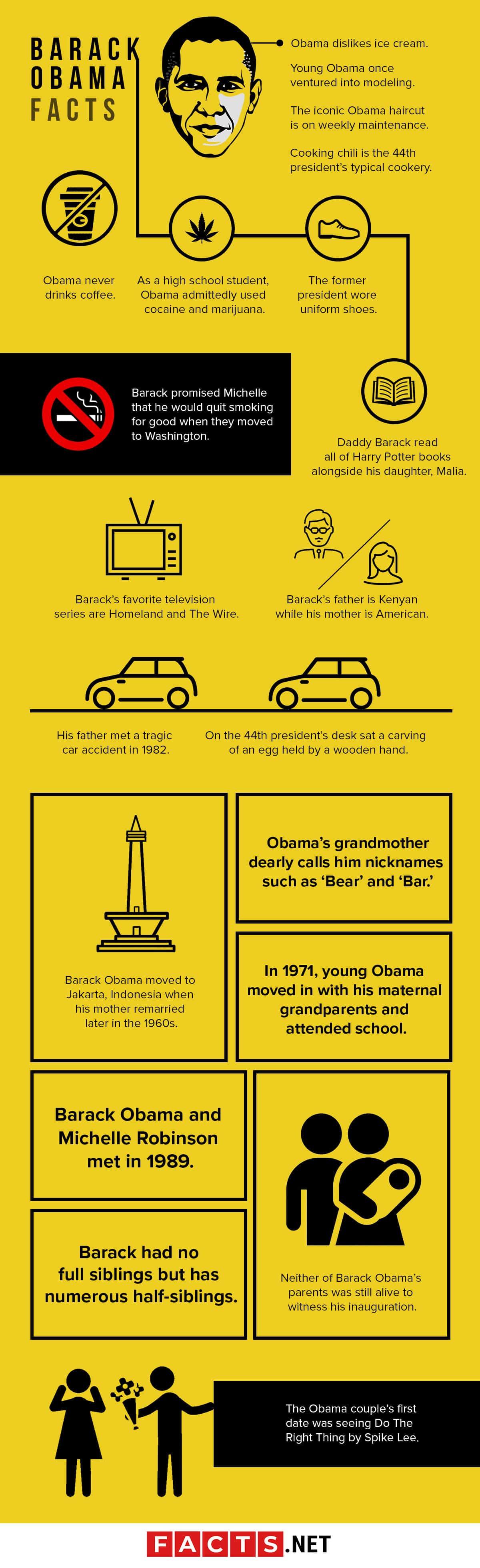 Barack Obama Facts Infographics