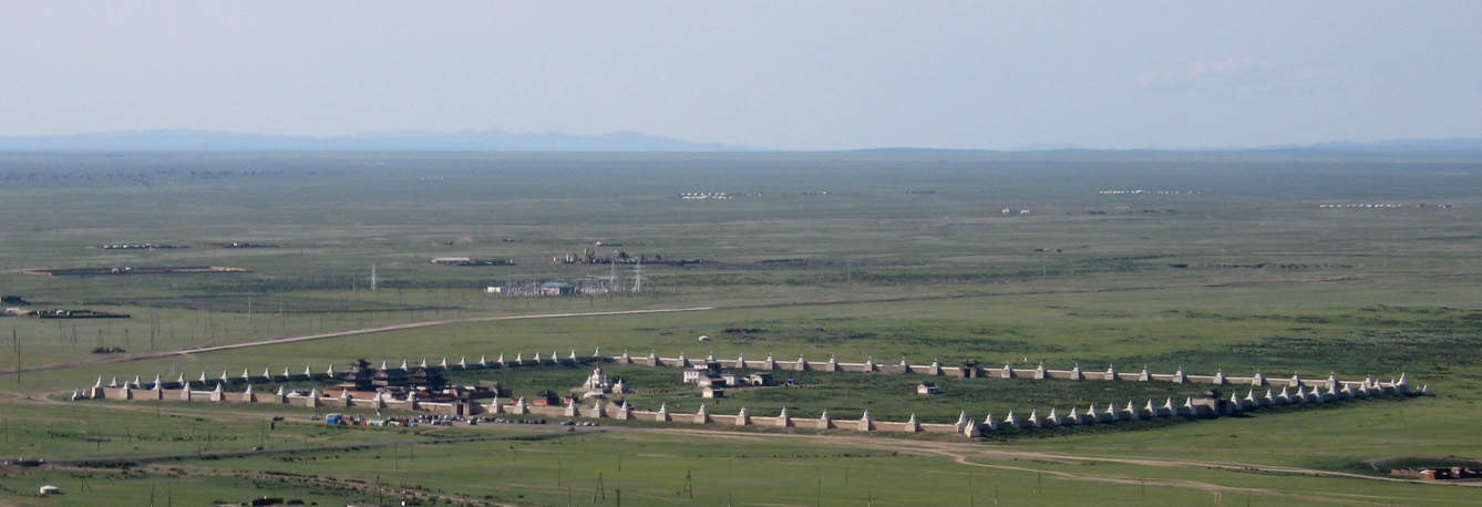 Erdene Zuu today, as seen across the Mongolian countryside.