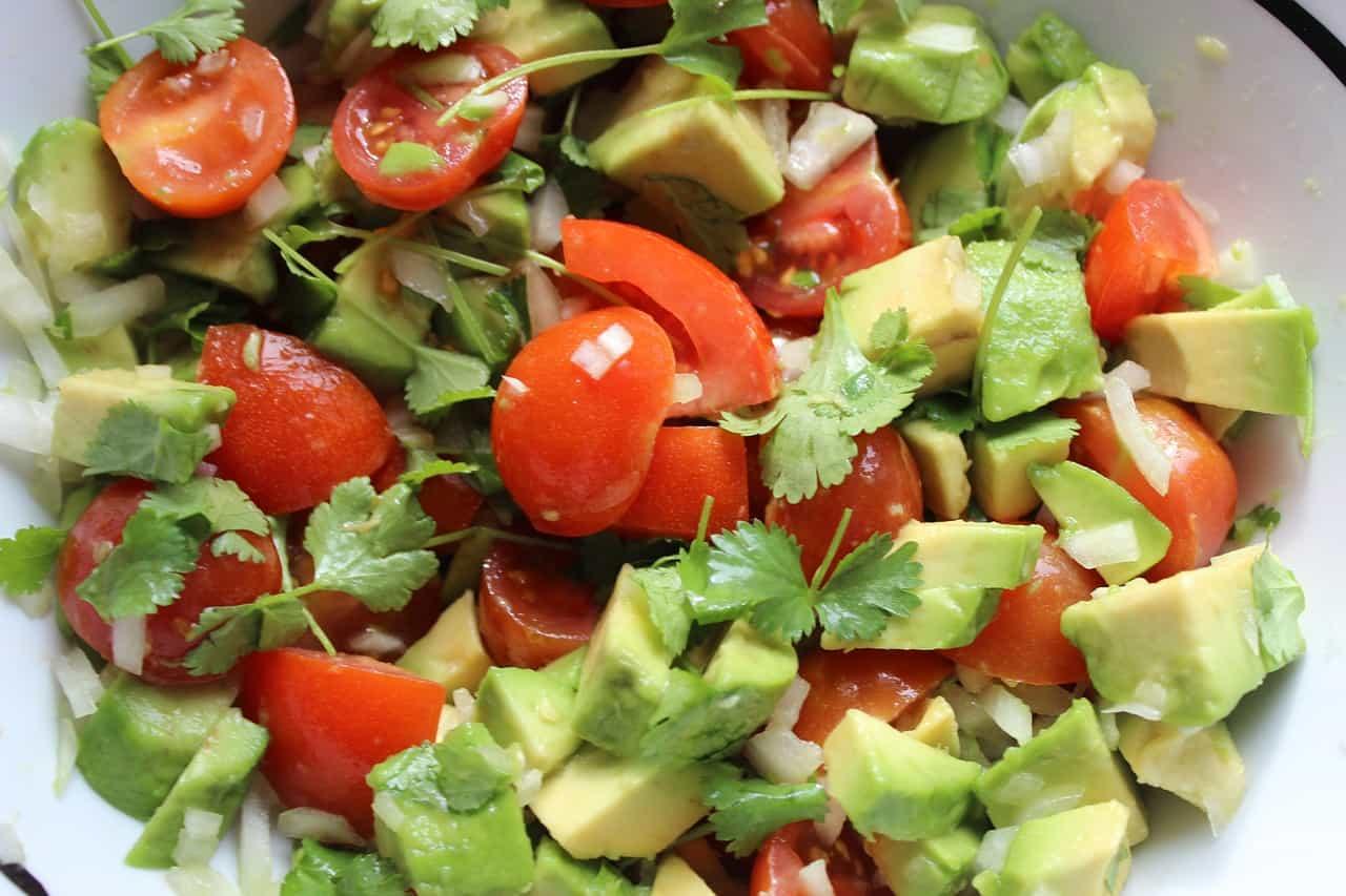 avocado on salad