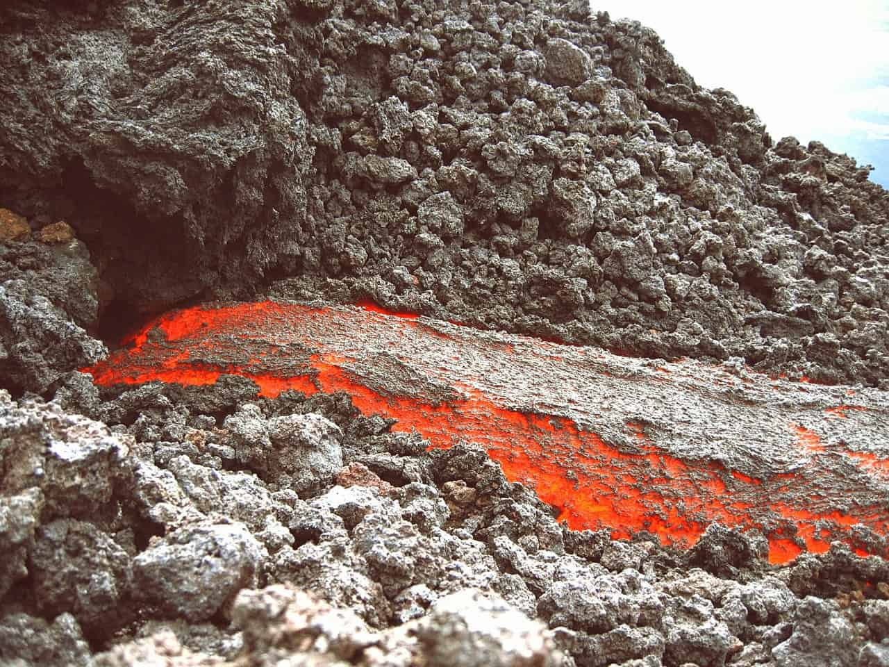 live lava flow in guatemala