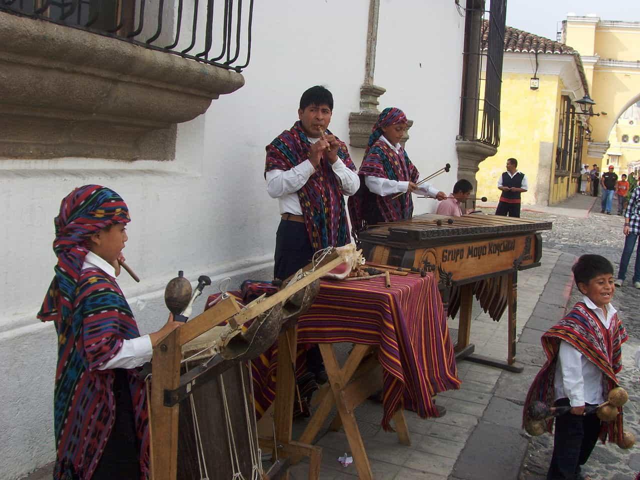 playing the marimba in guatemala